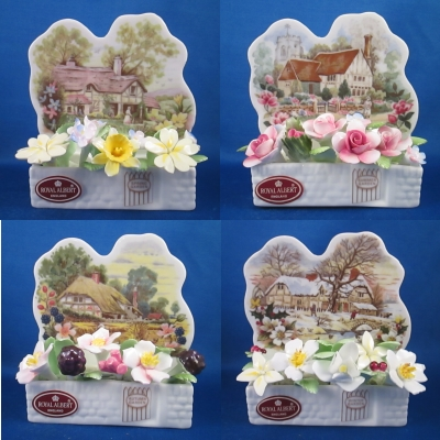 Royal Albert Cottage Garden Year set of 4 windowboxes